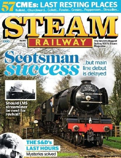 Steam Railway cover Jan-Feb 2016