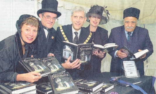 Book launch of London's Necorpolis, Brookwood Cemetery, July 2004
