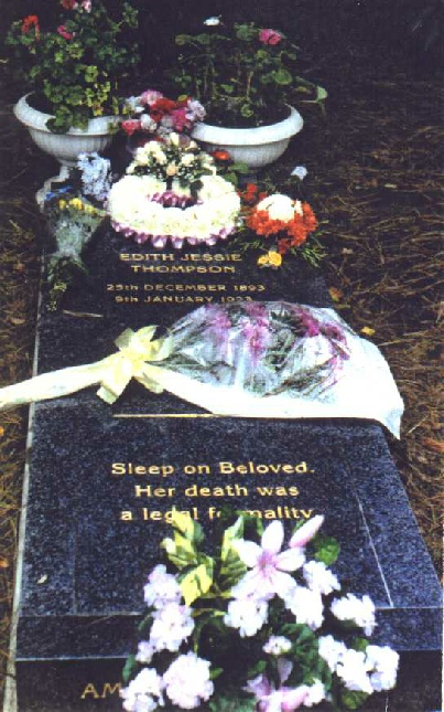 The memorial to Edith Thompson and others, 13 November 1993