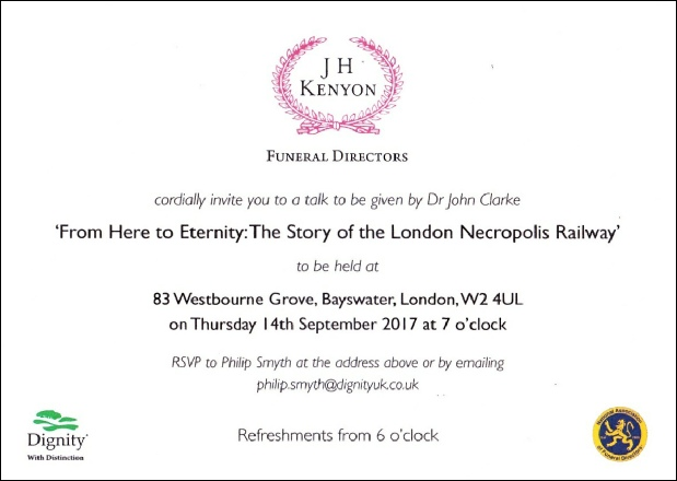 From here to eternity: the story of the London Necropolis Railway J H Kenyon lecture John Clarke
