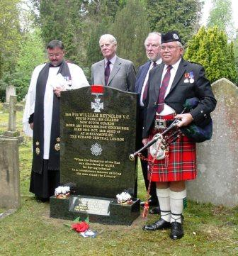 memorial commemorating the life of Private William Reynolds VC