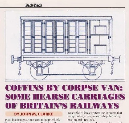 Coffins by corpse van, Backtrack April 2021