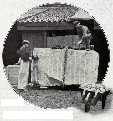 A 7-TON BLOCK OF GRANITE AT THE DRESSING SHED