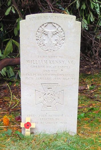 Grave of William Kenny VC Brookwood Cemetery