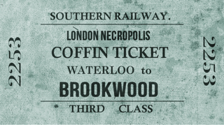 London necropolis Company coffin ticket