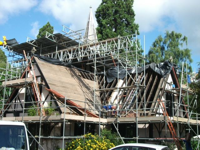 Restoration of the Roof of the Old Mortuary Chapel Brookwood Cemetery