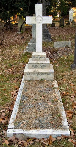 The grave of Edgar Inkson VC at Brookwood