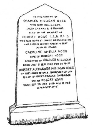 Hogg family grave, Brookwood Cemetery